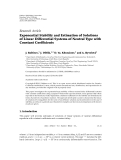 """báo cáo hóa học:"""" Research Article Exponential Stability and Estimation of Solutions of Linear Differential Systems of Neutral Type with Constant Coefficients"""""""