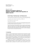 """báo cáo hóa học:""""  Research Article Minimal Nonnegative Solution of Nonlinear Impulsive Differential Equations on Infinite Interval"""""""