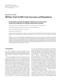 """báo cáo hóa học:"""" Research Article HIFSuite: Tools for HDL Code Conversion and Manipulation"""""""