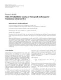 "báo cáo hóa học:"" Research Article TRII: A Probabilistic Scoring of Drosophila melanogaster Translation Initiation Sites"""