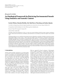 """báo cáo hóa học:"""" Research Article An Ontological Framework for Retrieving Environmental Sounds Using Semantics and Acoustic Content"""""""