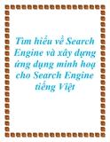 Tìm hiểu về Search Engine và xây dựng ứng dụng minh hoạ cho Search Engine tiếng Việt