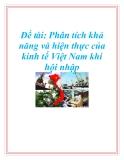 Đề tài: Phân tích khả năng và hiện thực của kinh tế Việt Nam khi hội nhập