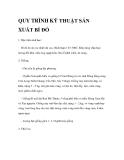 QUY TRÌNH KỸ THUẬT SẢN XUẤT BÍ ĐỎ