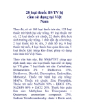 28 loại thuốc BVTV bị cấm sử dụng tại Việt Nam