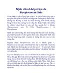 Bệnh viêm khớp ở lợn do Streptococcus Suis