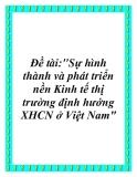 """Đề tài:""""Sự hình thành và phát triển nền Kinh tế thị trường định hướng XHCN ở Việt Nam"""""""