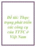 Đề tài: Thực trạng phát triển các công cụ của TTTC ở Việt Nam