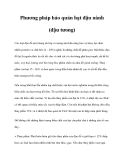 Phương pháp bảo quản hạt đậu nành (đậu tưong)
