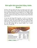 Rút ngắn thời gian khởi động Adobe Reader