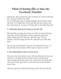 Thêm 10 hướng dẫn cơ bản cho Facebook Timeline