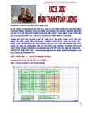 Excel 2007 - Bảng thanh toán tiền lương