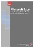 Microsoft Excel- Cung cấp những kiến thức cần thiết giúp làm việc hiệu quả trên bảng tính
