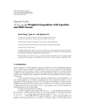 """Báo cáo sinh học: """" Research Article Aλ3 λ1 , λ2 , Ω -Weighted Inequalities with Lipschitz r and BMO Norms"""""""