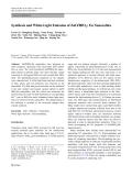 "Báo cáo hóa học: ""   Synthesis and White-Light Emission of ZnO/HfO2: Eu Nanocables"""