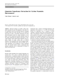 "Báo cáo hóa học: ""  Quantum Capacitance Extraction for Carbon Nanotube Interconnects"""