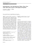 """Báo cáo hóa học: """"   Field Dependence of the Spin Relaxation Within a Film of Iron Oxide Nanocrystals Formed via Electrophoretic """""""