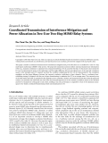 """Báo cáo hóa học: """" Research Article Coordinated Transmission of Interference Mitigation and Power Allocation in Two-User Two-Hop MIMO Relay Systems"""""""