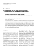 """Báo cáo hóa học: """"Research Article A Novel Quantize-and-Forward Cooperative System: Channel Estimation and M-PSK Detection Performance"""""""