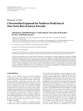 """Báo cáo hóa học: """"Research Article A Decentralized Approach for Nonlinear Prediction of Time Series Data in Sensor Networks"""""""