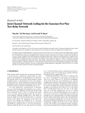 """Báo cáo hóa học: """" Research Article Joint Channel-Network Coding for the Gaussian Two-Way Two-Relay Network"""""""