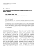 "Báo cáo hóa học: ""Research Article Low-Complexity One-Dimensional Edge Detection in Wireless Sensor Networks"""