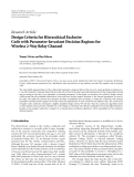 "Báo cáo hóa học: "" Research Article Design Criteria for Hierarchical Exclusive Code with Parameter-Invariant Decision Regions for"""