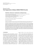 """Báo cáo hóa học: """" Research Article Novel Approaches to Enhance Mobile WiMAX Security"""""""