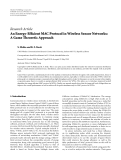 "Báo cáo hóa học: "" Research Article An Energy-Efficient MAC Protocol in Wireless Sensor Networks: A Game Theoretic Approach"""