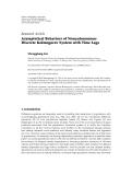 "Báo cáo sinh học: "" Research Article Asymptotical Behaviors of Nonautonomous Discrete Kolmogorov System with Time Lags"""