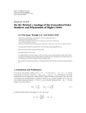 """Báo cáo sinh học: """"Research Article On the Twisted q-Analogs of the Generalized Euler Numbers and Polynomials of Higher Order"""""""