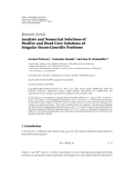"""Báo cáo sinh học: """" Research Article Analysis and Numerical Solutions of Positive and Dead Core Solutions of Singular Sturm-Liouville Problems"""""""