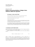 """Báo cáo sinh học: """"Research Article Positive Decreasing Solutions of Higher-Order Nonlinear Difference Equations"""""""