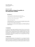 """Báo cáo sinh học: """" Research Article Some Nonlinear Integral Inequalities in Two Independent Variables"""""""