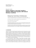"""Báo cáo sinh học: """"  Research Article Positive Solutions of nth-Order Nonlinear Impulsive Differential Equation with Nonlocal Boundary Conditions"""""""