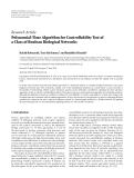 "Báo cáo sinh học: "" Research Article Polynomial-Time Algorithm for Controllability Test of a Class of Boolean Biological Networks"""