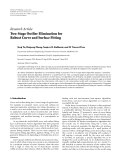 "Báo cáo sinh học: ""  Research Article Two-Stage Outlier Elimination for Robust Curve and Surface Fitting"""