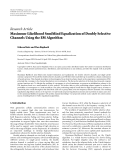 "Báo cáo sinh học: ""  Research Article Maximum-Likelihood Semiblind Equalization of Doubly Selective Channels Using the EM Algorithm"""