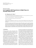 """Báo cáo sinh học: """"  Research Article Low Complexity MLSE Equalization in Highly Dispersive Rayleigh Fading Channels"""""""