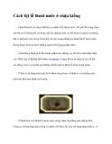 Cách bịt lỗ thoát nước ở chậu kiểng