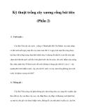 Kỹ thuật trồng cây xương rồng bát tiên (Phần 2)