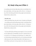 Kỹ thuật trồng mai (Phần 1)