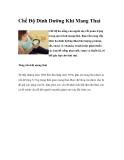 Chế Độ Dinh Dưỡng Cần Thiết Khi Mang Thai