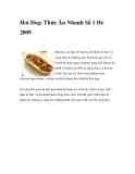 Hot Dog: Thức Ăn Nhanh Số 1 Hè 2009