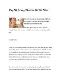 Phụ Nữ Mang Thai Ăn Gì Tốt Nhất