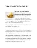 Trứng Ngỗng Có Tốt Cho Thai Nhi