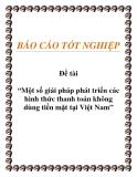Đề án: Một số giải pháp phát triển các hình thức thanh toán không dùng tiền mặt tại Việt Nam