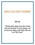 Đề án tốt nghiệp: Những biến động trên thị trường dầu mỏ thế giới và ảnh hưởng của nó tới hoạt động xuất khẩu dầu mỏ của Việt Nam