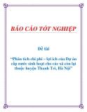 Đề tài: Phân tích chi phí – lợi ích của Dự án cấp nước sinh hoạt cho các xã còn lại thuộc huyện Thanh Trì, Hà Nội