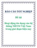 Đề tài: Hoạt động tín dụng của hệ thống NHTM Việt Nam trong giai đoạn hiện nay